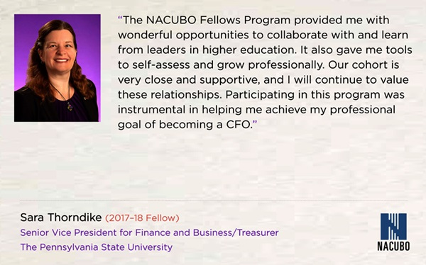 Sare Thorndike, NACUBO Fellow