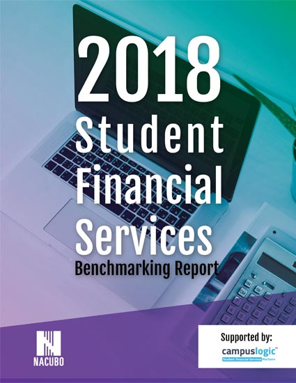 2018 Student Financial Services Benchmarking Report Cover
