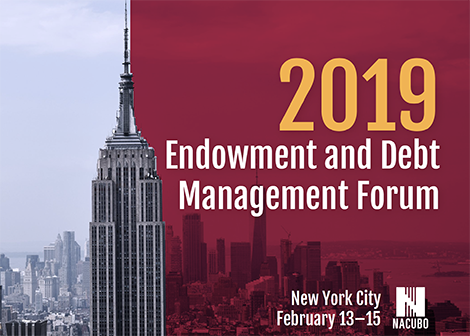 Endowment and Debt Management Forum 2019